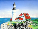 Lighthouse in Pastel by Christine Boyce